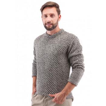 Vlněný svetr BONNIE & CLYDE, černošedý