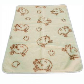 Dětská deka z ovčí vlny oboustranná OVEČKA