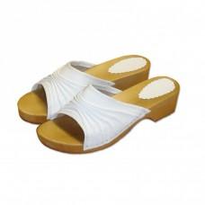 Dřeváky Elegance bílé