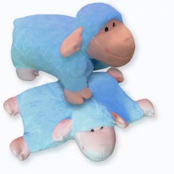 Rozkládací polštářek OVEČKA modrá