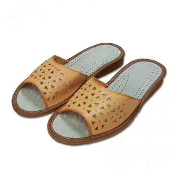 Dámské pantofle z přírodní kůže S-08