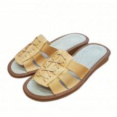 Dámské pantofle z přírodní kůže S-10