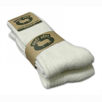 Ponožky z ovčí vlny 425g - bílé sada 2 ks