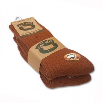Ponožky z ovčí vlny 425g - CAMEL sada 2ks