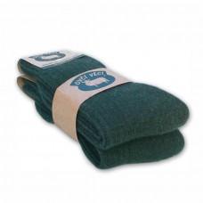 Ponožky z ovčí vlny 425 g - zelené sada 2 ks