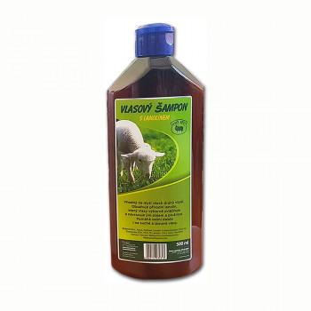 Vlasový šampon s lanolínem, 500 ml