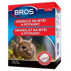 BROS Rodenticid  granule na myši a potkany 7 x 20 g