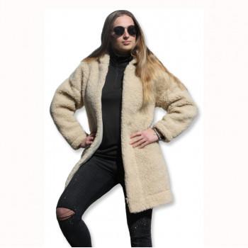 Kabát s kapucí z ovčí vlny DIANA -3