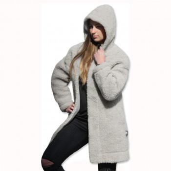 Kabát s kapucí z ovčí vlny DIANA -7