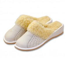 Pantofle na klínku BÍLÉ