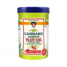 Konopný masážní Flex gel, hřejivý 380 ml