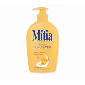 Mitia Honey & Milk tekuté mýdlo s medovými extrakty dávkovač, 500 ml