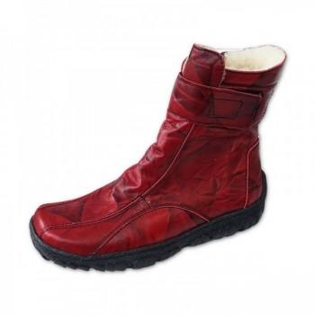 Dámské zimní boty červené