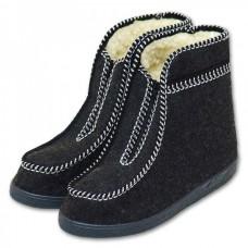 Valašské boty s ovčí vlnou  důchodky - šedé