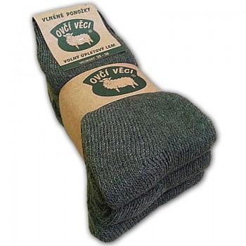 Ponožky z ovčí vlny 2+1 ZDARMA, zelené