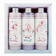 BOHEMIA Sada pro holky gel 250 ml, šampon 250 ml a pěna 250 ml – jednorožec