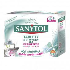SANYTOL Tablety do myčky 4 v 1 s dezinfekcí, 40 ks